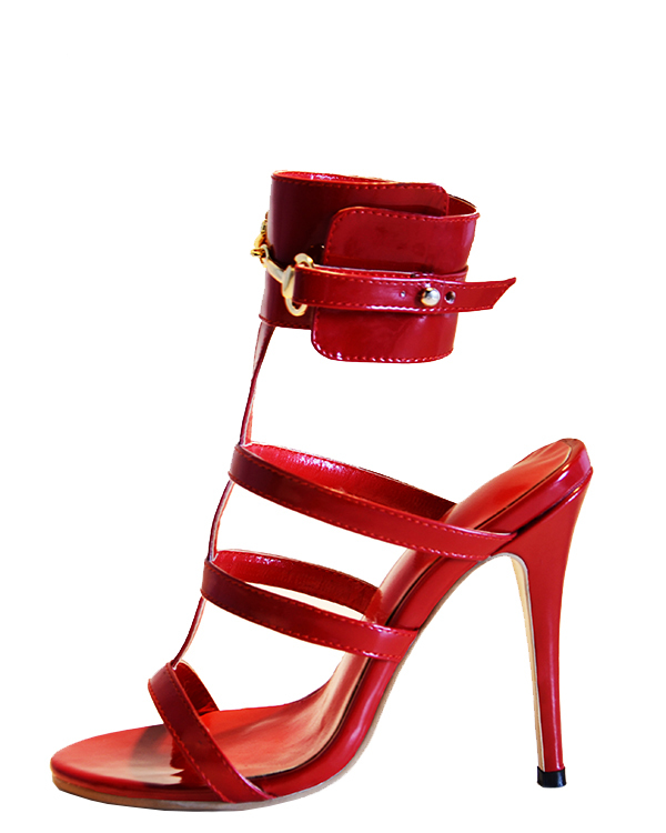 ФОТО PADEGAO+2017  New Arrivl   Fashion  High Heels 11cm  Palent  Leather  Noble Red  Women Shoes  Party  Women Sandals plus size