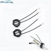 цена на FSTUNING car h7 Adapter for golf 7 led headlight adapter holder socket for vw golf 7 led headlight h7 led bulb clip retainer