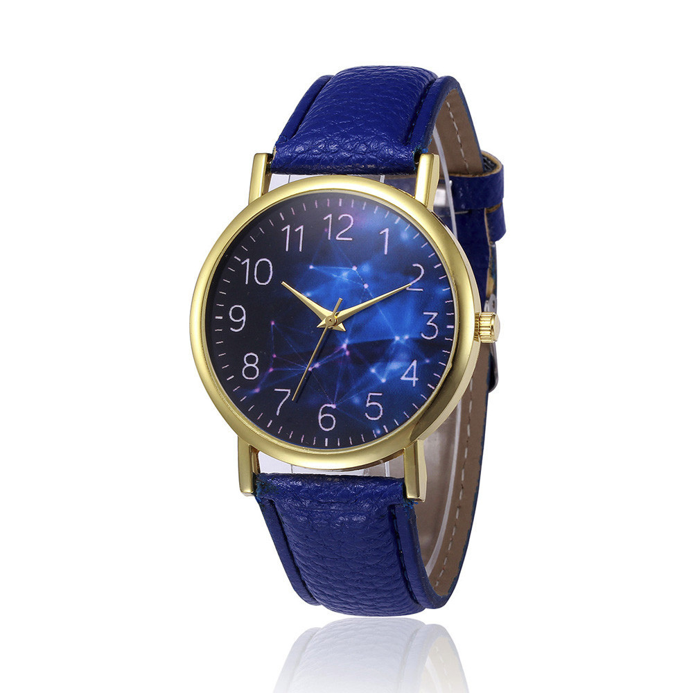 MIGEER Retro Design Leather Band Analog Alloy Quartz Wrist Watch Blue Dial Alloy Starry Sky Womens watches top brand luxury 2018 men watch 2017 male top hot sale relogio retro design leather band analog alloy quartz wrist watch quartz wristwatch p 21