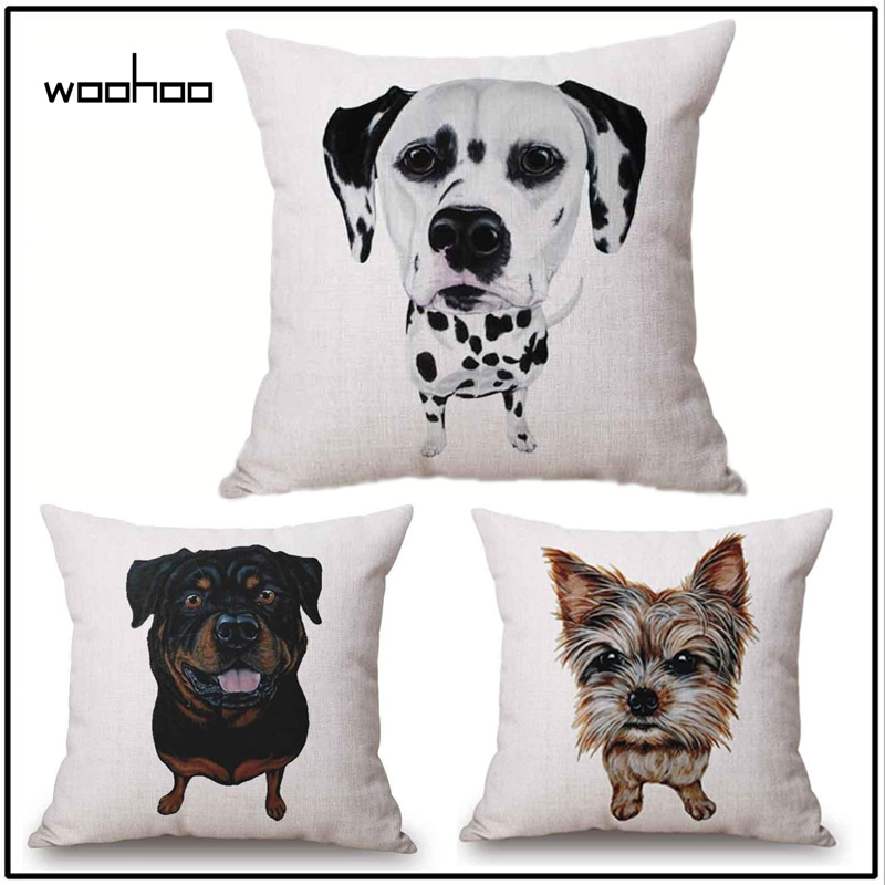 2018 Woohoo 1 Pcs Pug Dog Bulldog Pattern Cotton Linen Throw Pillow Cushion Cover Car Home Sofa Bed Decorative Pillowcase