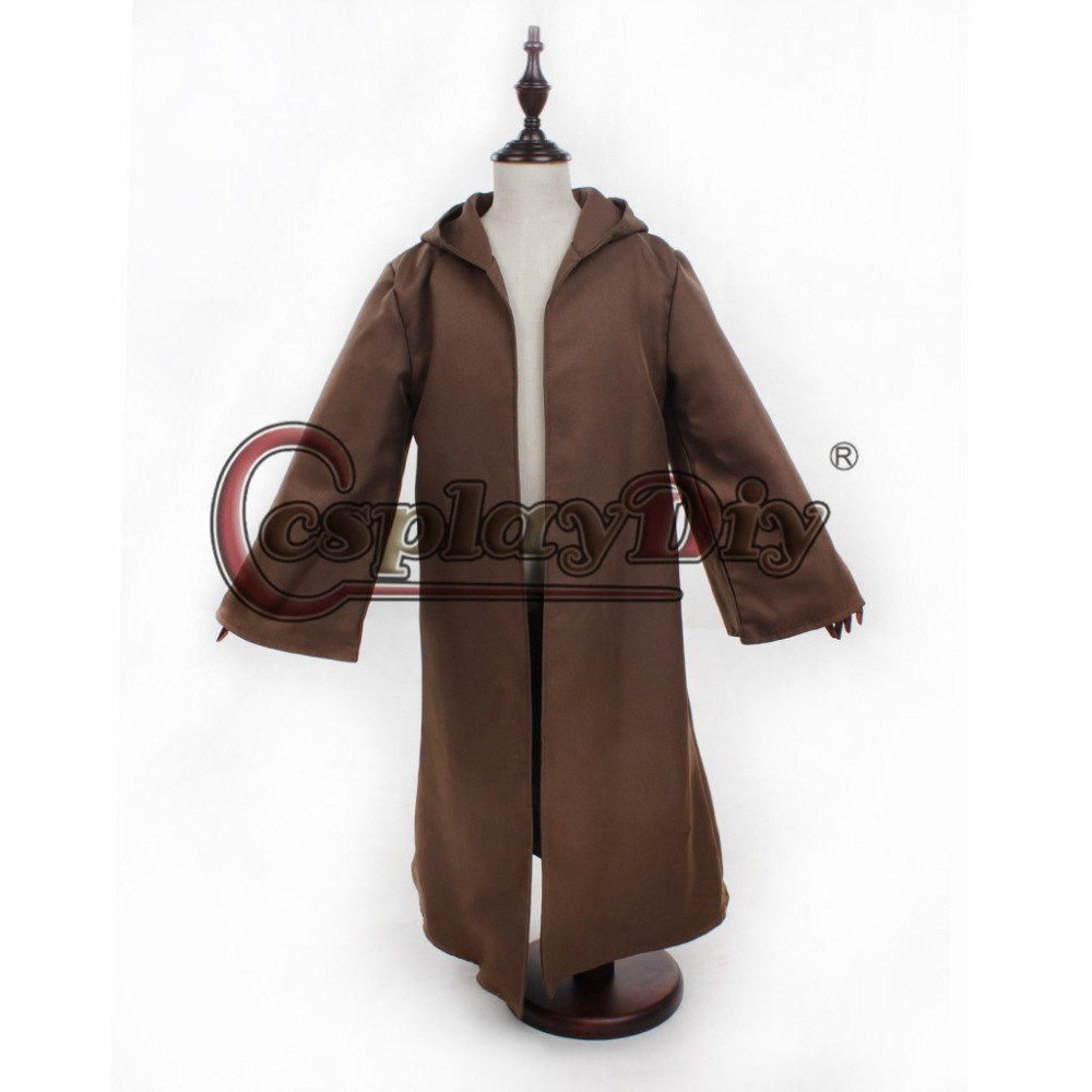 1 2 ...  sc 1 st  AliExpress.com & Cosplaydiy Child Kids Unisex Star Wars Obi Wan Kenobi Jedi Costume ...