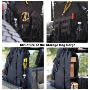 Image 3 - Chuang Qian 2X Roll Bar Tool Storage Bag Multi Pockets Saddlebag Organizers Cargo for Jeep Wrangler JK TJ LJ & Unlimited 4 Door
