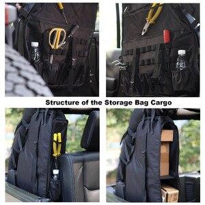 Image 3 - Chuang qian 2X stabilizator poprzeczny przechowywanie narzędzi torba wielu kieszenie Saddlebag organizatorzy Cargo dla Jeep Wrangler JK TJ LJ i nieograniczony 4 drzwi