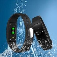 Новый Bluetooth Smart фитнес-браслет часы браслет Touchpad сна монитор сердечного ритма для iOS и Android