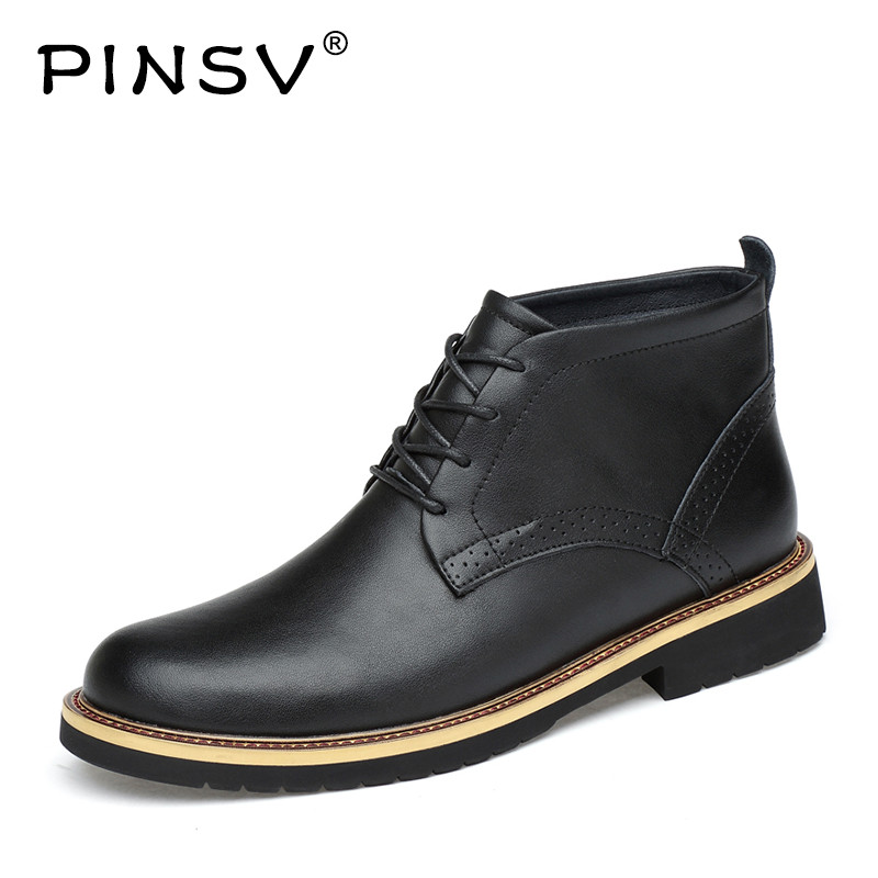 PINSV Boots Men Adult Shoes Genuine Leather High Top Men Casual Leather Shoes Outdoor Casual Boots Mens Shoes Large Size 38-48 gram epos men casual shoes top quality men high top shoes fashion breathable hip hop shoes men red black white chaussure hommre