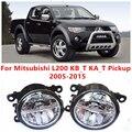 Para Mitsubishi L200 KB_T KA_T Pickup 2005-2015 10 W Luz de Nevoeiro LEVOU DRL Luzes Diurnas Carro Styling lâmpadas