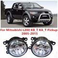 Para Mitsubishi L200 KB_T KA_T Pickup 2005-2015 10 W Luz de Niebla del LED DRL Daytime Running Lights Car Styling lámparas
