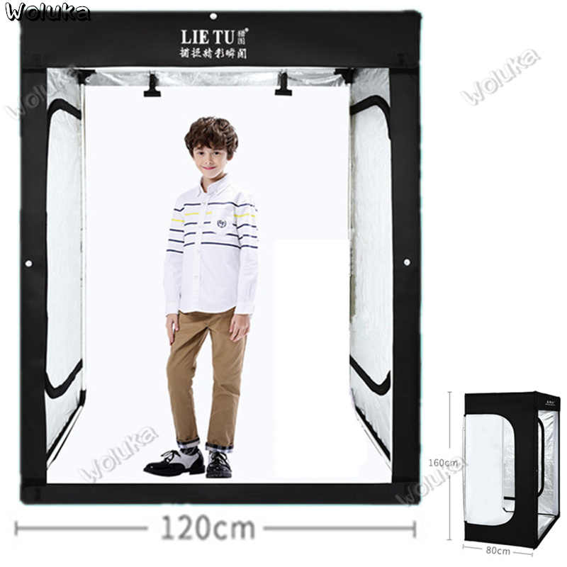 160cm 5.25ft Photo Tent Tabletop Shooting LED Lighting Softbox Studio Box for Adult Model Portrait Clothes  CD50 T03 QL1