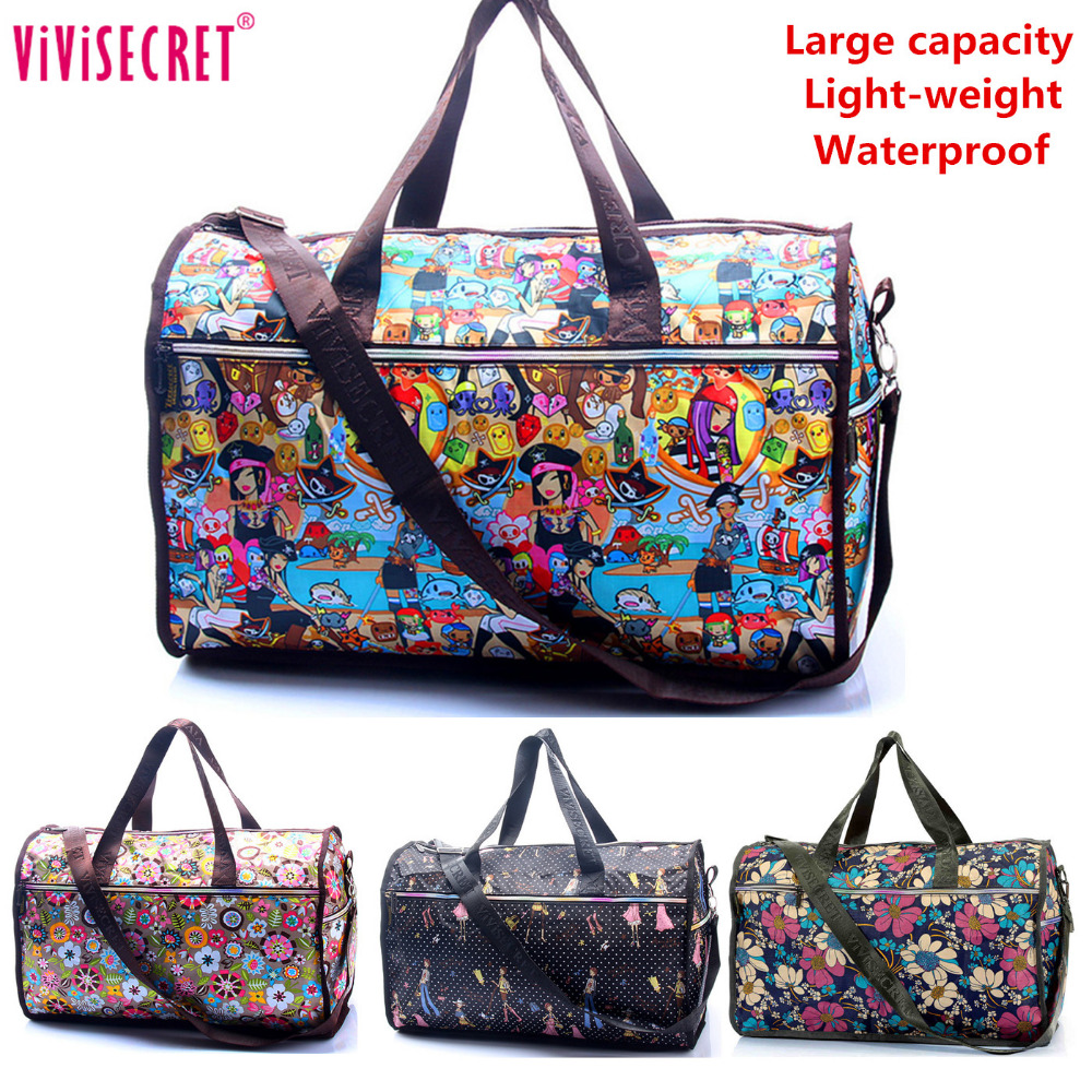 Travel Luggage Duffle Bag Lightweight Portable Handbag Cat Pattern Large Capacity Waterproof Foldable Storage Tote