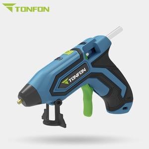 Image 2 - Youpin pistola de pegamento caliente inalámbrica Tonfon Original, 3,6 V, integrada, 2000mah, recargable por USB, juegos de pistolas de pegamento de fusión con 10/20 barras de pegamento