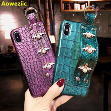 Aoweziic Bee XS Max мобильный телефон оболочка tide наручный ремешок для iPhone7plus кожа 6 S X индивидуальность 8 новая сеть red love XR