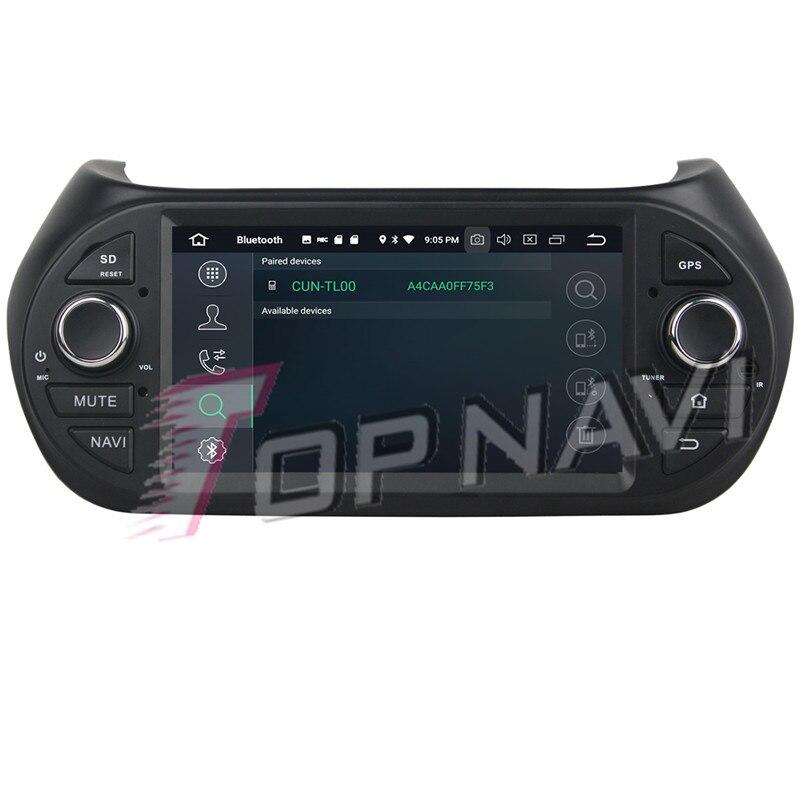 TOPNAVI Android 9.0 Auto GPS Navigation Für Fiat Fiorino Citroen Nemo Peugeot Bipper 2008-2015 Auto DVD Multimedia Radio Stereo