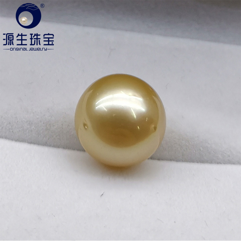 YS AA 12 13mm Natural Round South Sea Cultured Gold Loose Pearls For Jewelry