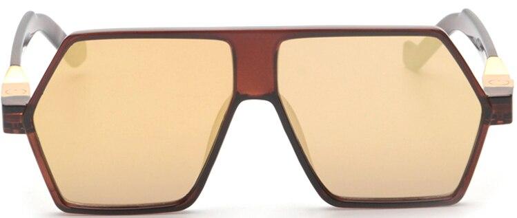 2015 New Men Sunglasses Gold Alloy Le Mesh Frame Sunglasses