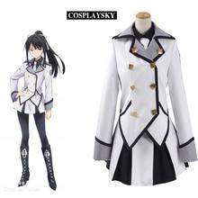 Qualidea Code Hotaru Rindo Cosplay Costume Halloween Party Dress Uniform For Women  White Coat Top Black Shirt Skirt Full set