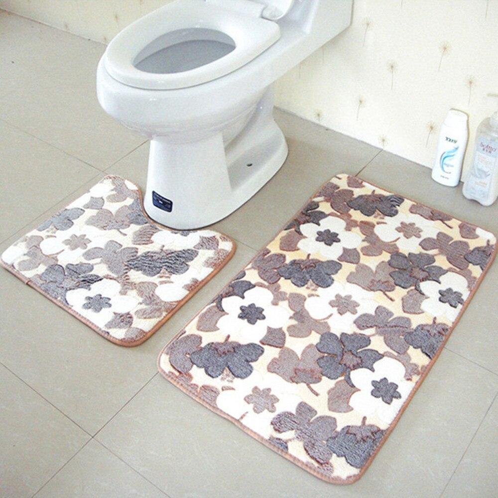 Full Floor Bathroom Rugs : New rugs carpets bathroom mat toilet floor shaggy