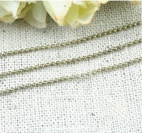 RYQY2MM Gu Qing retro copper chain copper bead ball chain DIY jewelry accessories material 100 meter