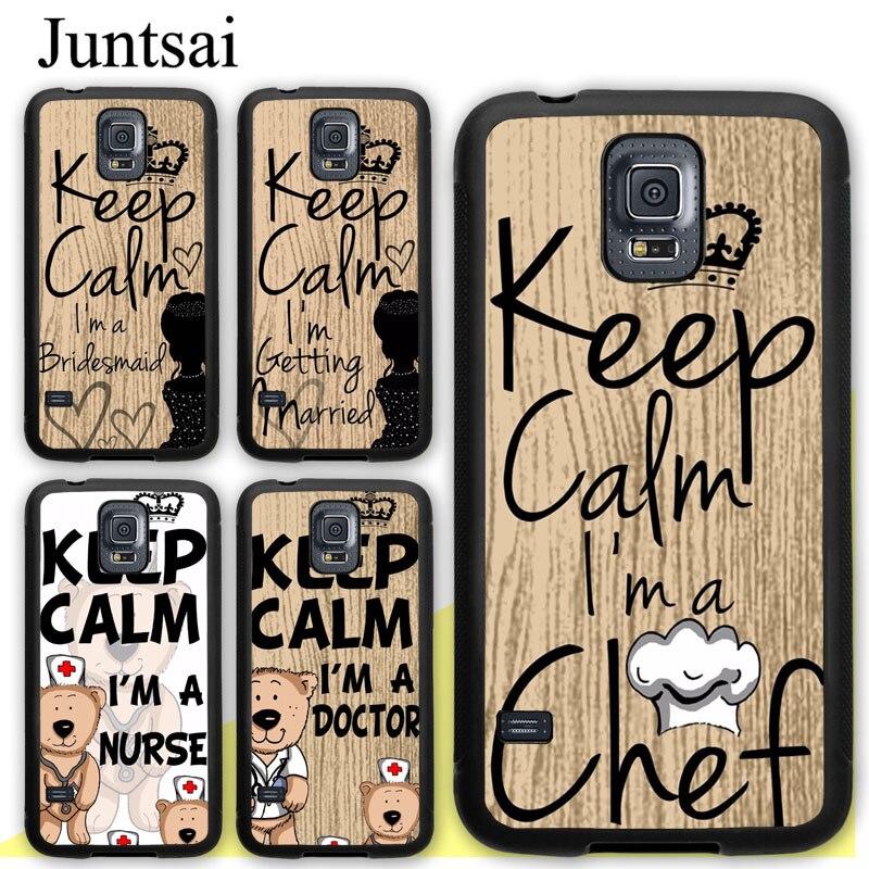 Initiative Juntsai Keep Calm Im Doctor Nurse Chef Bride Tpu Case For Samsung Galaxy S5 S6 S7 Edge S8 S9 S10 Plus Lite Note 8 5 9 Cover Phone Bags & Cases