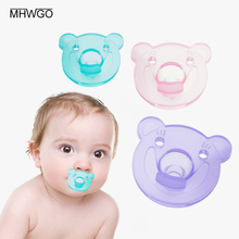 hot deal buy mhwgo chupeta baby pacifier nipple holder chicco nipples bear-type baby nipple food grade silicone pacifier 2-24 months baby use