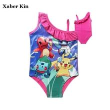 Girls Cartoon Swimsuit New 2018 Children Girls Swimwear Beachwear Kids Girls Swimsuit Bathing Swimming Suits G2-K325