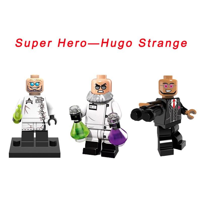 Dr. Hugo Gotham Super Heroes Hugo Strange 2018 Batman: The Video Game DIY figure Building Block Toy For Kids