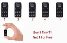 Мини-телефон Zanco T1 5 шт. 2G Самый маленький в мире телефон Zanco Tiny T1 (подарок при каждой покупке) Купи 5, получи 1 бесплатно