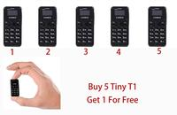 5 Unit Zanco T1 Phone Mini Phone 2G Zanco Tiny T1 World's Smallest Phone (Free Gift With Every Purchase) Buy 5 get 1 For Free