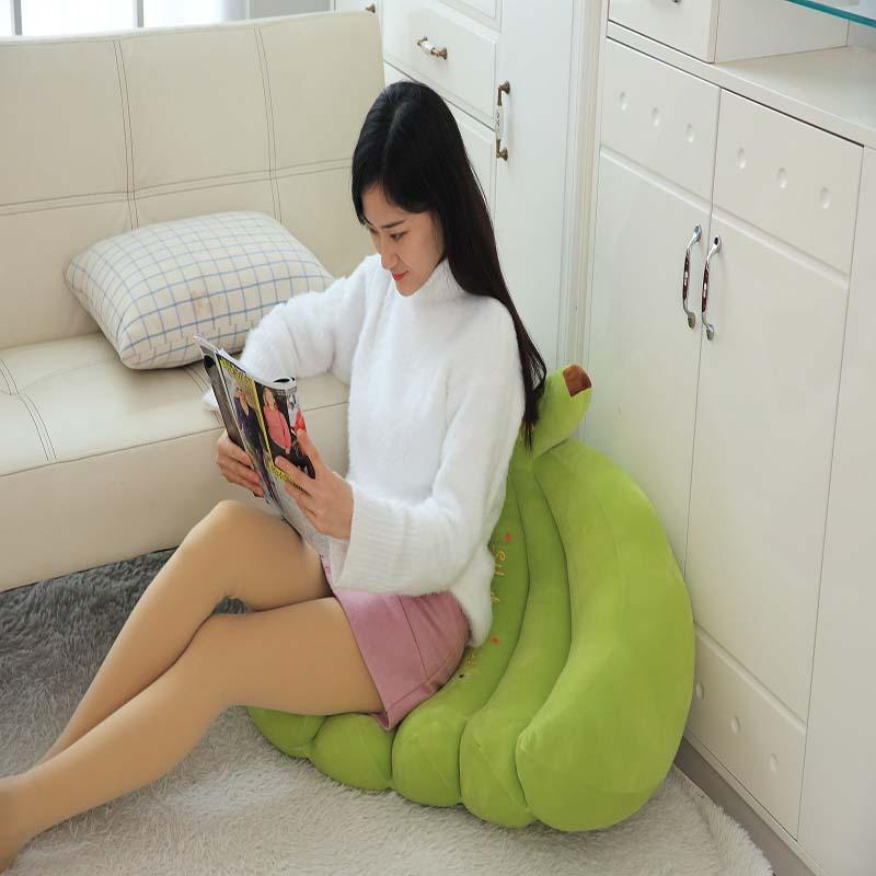 Large cute stretch banana sofa pillow creative fruit chair simple lazy simulation cartoon stretch banana sofa pillow - 4