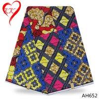 LIULANZHI tela de impresión de cera africana tela de algodón precio barato de alta calidad hollandais súper cera para la ropa las mujeres AH652