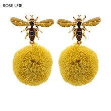 ROSE LIFE Noi drăguț albine cercei smarald moda cercei moda de personalitate pentru femei