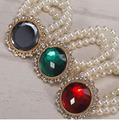Hot  crystal artificial gemstone elastic pearl bracelet  wholesale/pulseras mujer/pulseira feminina/brazalete/bilezik/bracciale