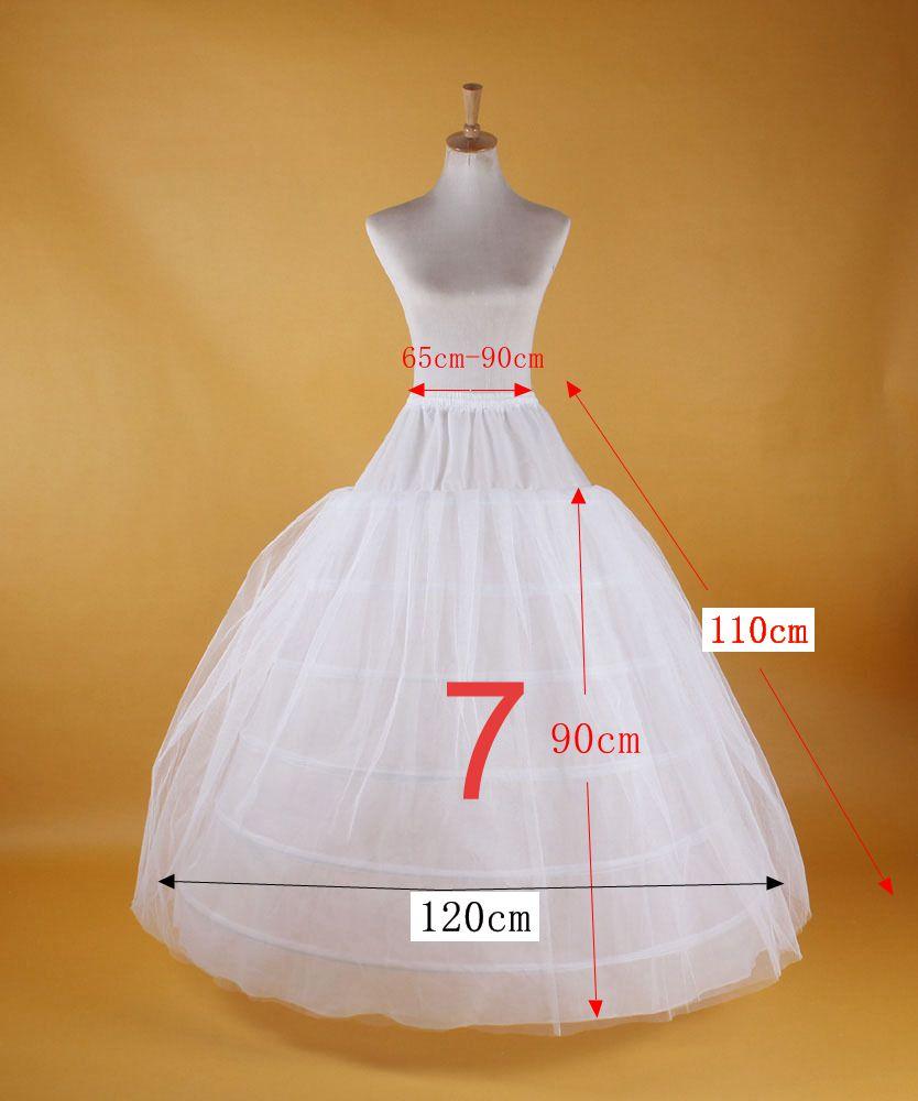 2019 New Hot Sell Bridal Wedding Petticoat Hoop Crinoline Prom Underskirt Fancy Skirt Slip 4