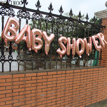 YORIWOO Baby Shower 16inch Oh Baby Foil Balloons Its Boy Or Girl Gender Reveal Rose Gold Balloons Babyshower Party Supplies Kid