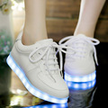Led shoes for women 2017 fashion solid color led luminous stylish women shoes