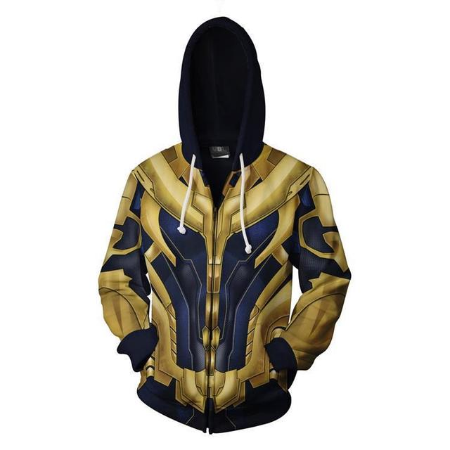 AVENGERS ENDGAME 3D THANOS MAN ZIP UP HOODIE
