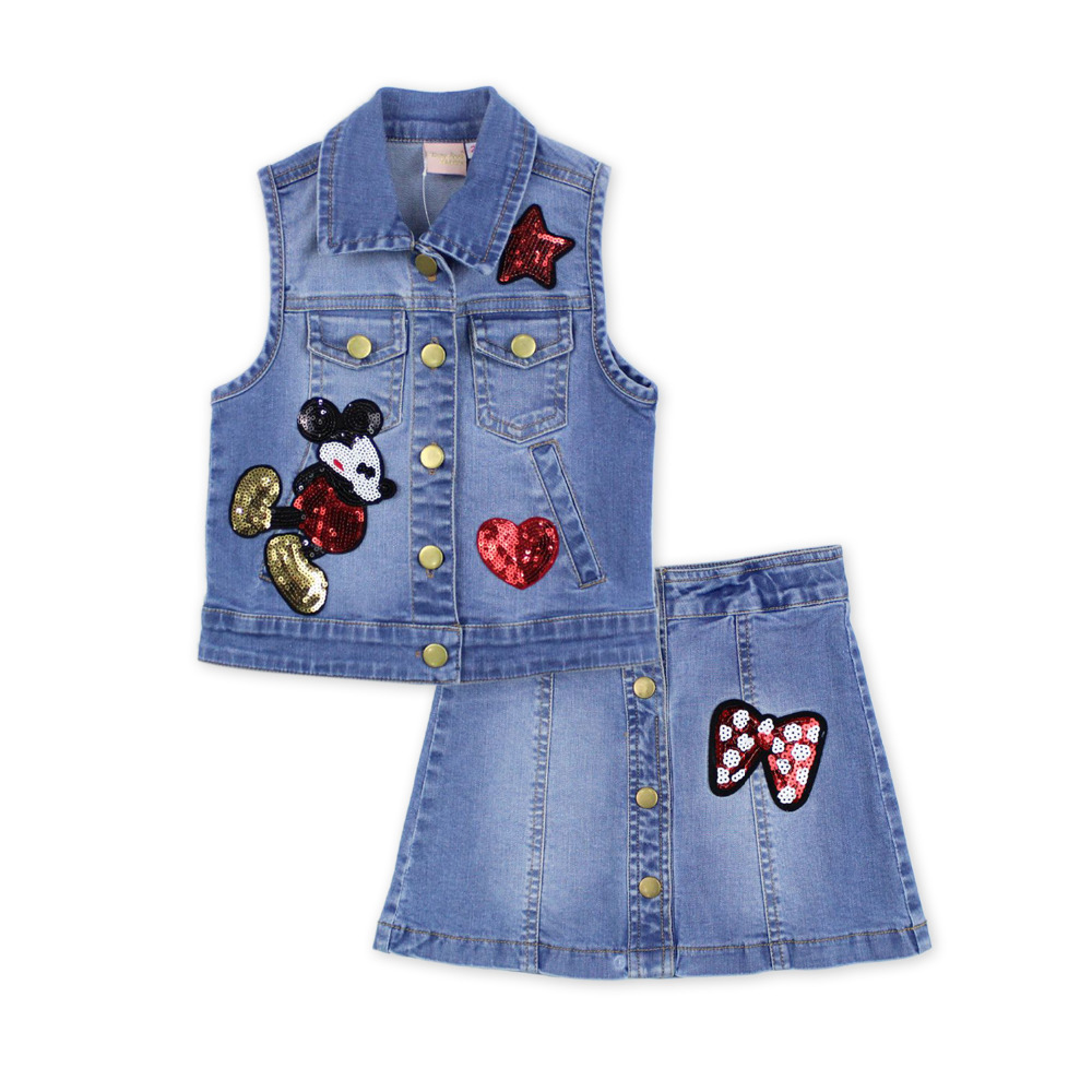 2016 fashion summer children clothing sets kids gi...