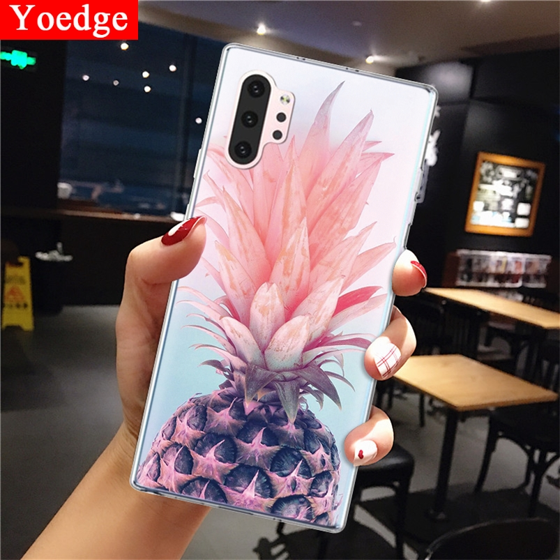 Pineapple Phone Coque For Samsung Galaxy Note 10 Pro Case Clear Ultra Thin TPU Back Cover 6.75'' For Samsung Galaxy Note10 Pro