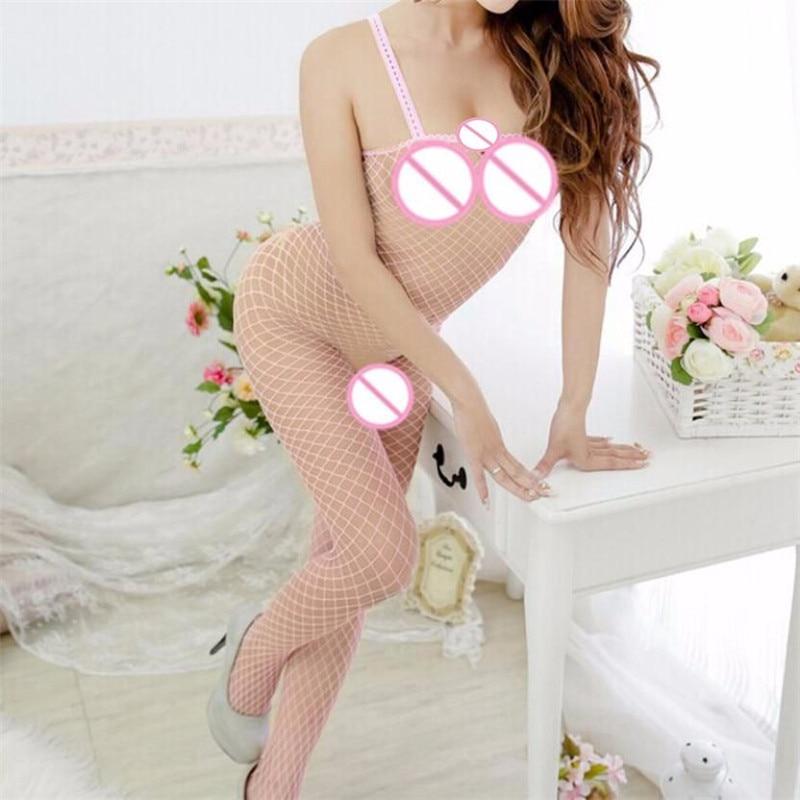 Exotic Apparel Lenceria Erotica Mujer Sexi Baby Doll Women Fishnet Bodystocking Babydoll Lingerie Chemise Sleeveless Nightwear