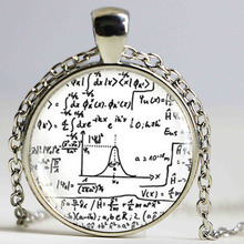Math Equation Necklace Mathematical Formulas Jewelry Quantum Physics Chokers HZ1