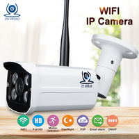 ZSVEDIO CCTV Monitor IP Camera Wi Fi IP Cameras Wifi Outdoor Alarm System Waterproof Wireless NVR