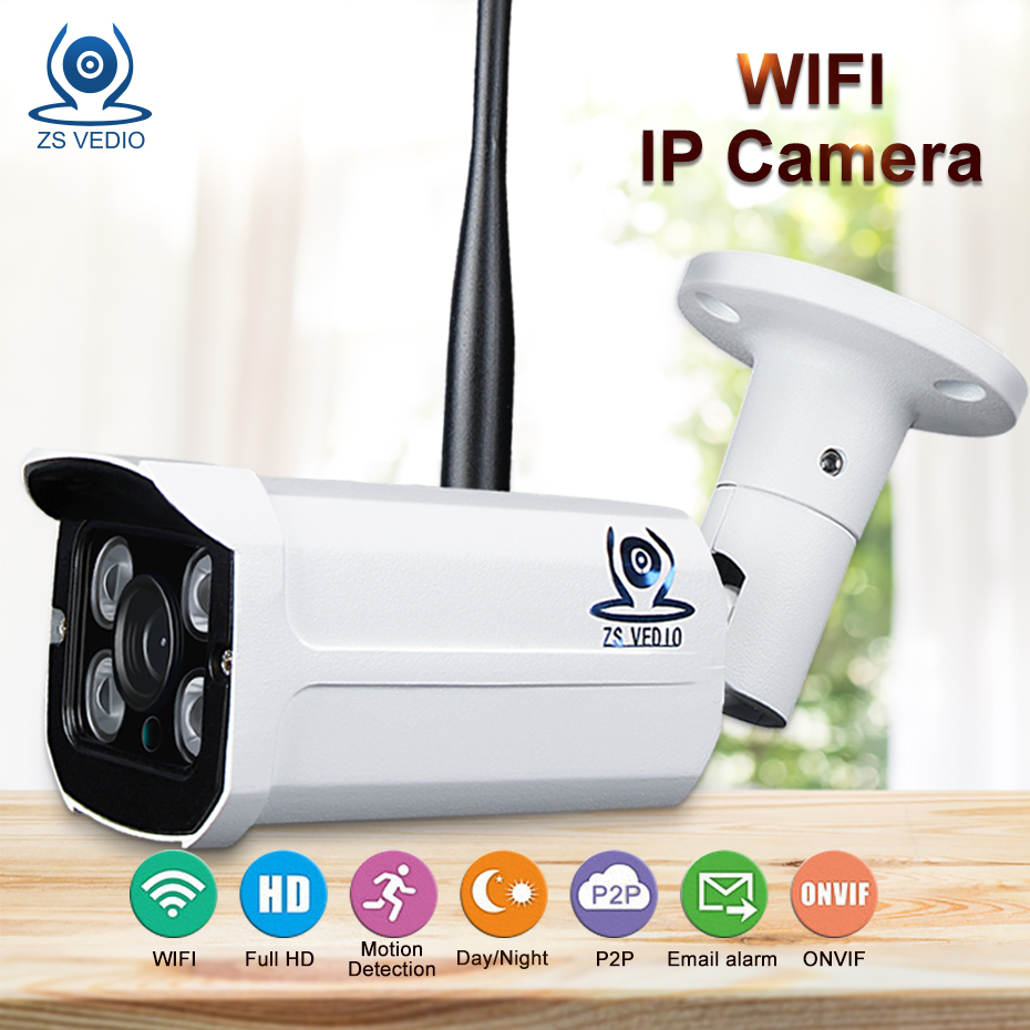 ZSVEDIO CCTV Monitor IP Camera Wi-fi IP Cameras Wifi Outdoor Alarm System Waterproof Wireless NVR 720P/960P/1080P 2MP HD Webcam