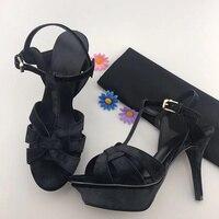 2018 Обувь Женская обувь Веселые Высокая шпильки женские босоножки обувь на платформе Брендовая Дизайнерская обувь Мода для ночного клуба Св