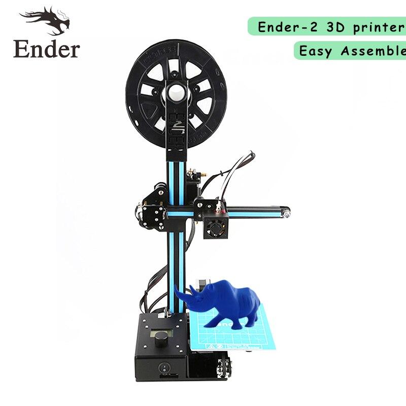 2018 Date Ender-2 Mini imprimante 3D Kit prusa i3 150*150*200mm 3D imprimante DIY Kit n 5 m Filaments + Foyer + 8g SD carte + Outils