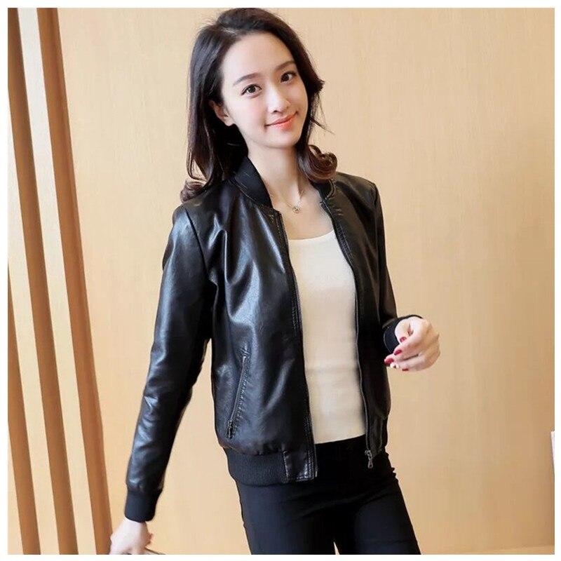 Fashion Autumn Women Pu   Leather   Jacket Slim Motor Outwear Coat Zippers Roupas De Couro Femininos Elegant Punk Coat