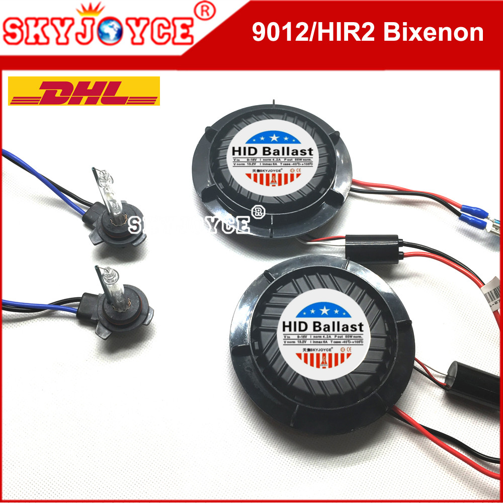 SKYJOYCE Original Headlight 9012 bixenon hid kit 6000K hir2 9012 5000K 4300K NO Error CANBUS kit 9012 high low 8000K 1 set 35w 12v error free canbus xenon hid hir2 9012 hid kits with hid xenon canceller ballasts hir2 hid kit 9012 4300k 8000k