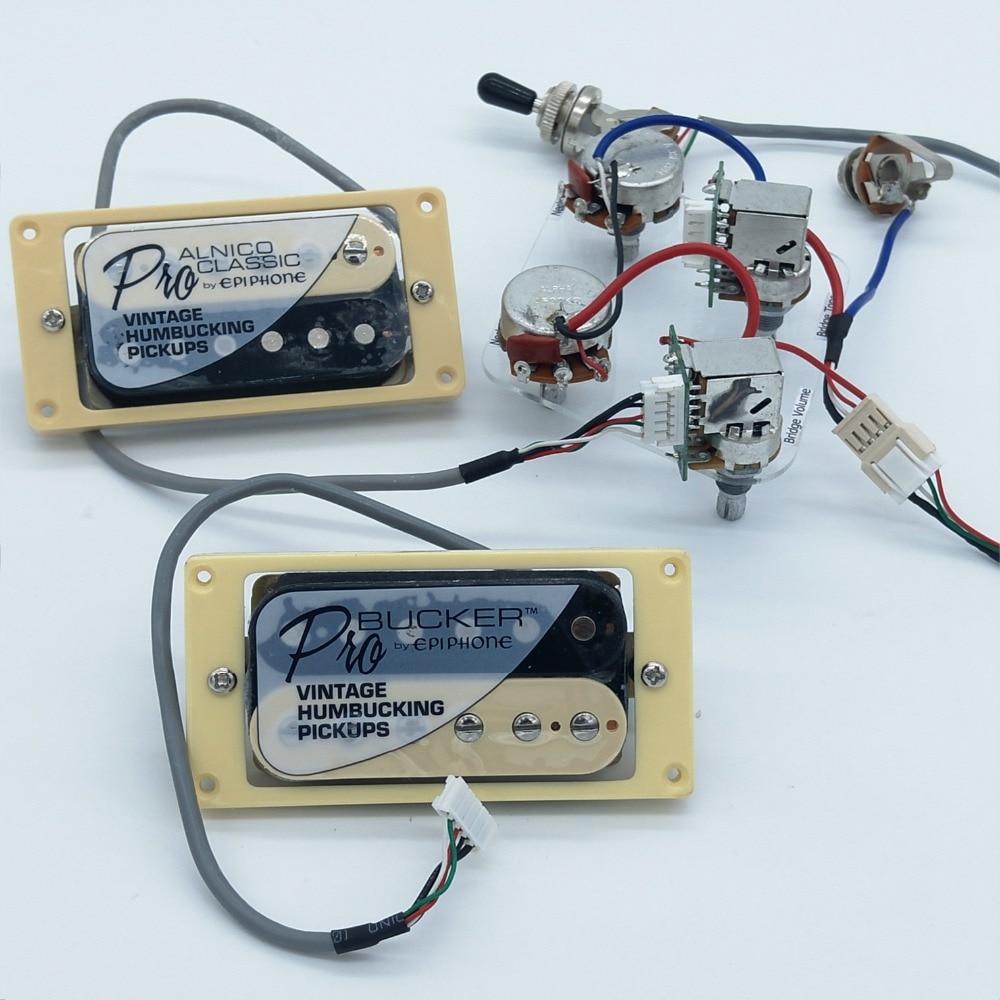 Buy 1 Set Original Epi Standard Pro Alnico Zebra Guitar Pickup Wiring Machine Humbucker With Push Pull Switch Potentiometers Harness From Reliable