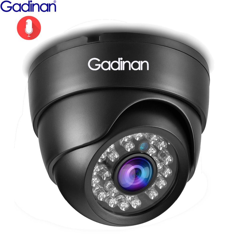 Gadinan IP Camera 5MP 2592*1944P SONY IMX335 Hi3516E Night Vision Audio Dome 4MP 2MP Full HD PoE Security Surveillance Camera image