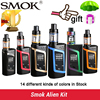 100 Original Smok Alien Kit Alien 220W Box Mod With 3ml TFV8 Baby Tank Electronic Cigarette