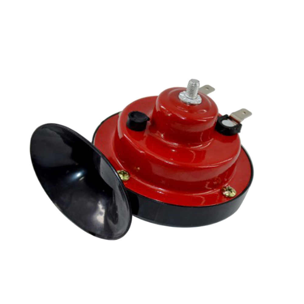 Red Shentesel 2Pcs 12V Snail Air Horn with Cover Loud Alarm Kit for Car Boat Motorcycle Van