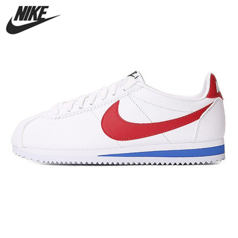 Original New Arrival NIKE WMNS CLASSIC CORTEZ LEATHER Women's Skateboarding Shoes Sneakers